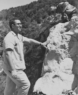 Mr. Costas Michaelides, at Ayios Ilarionas quarry in Kerynia, 1963